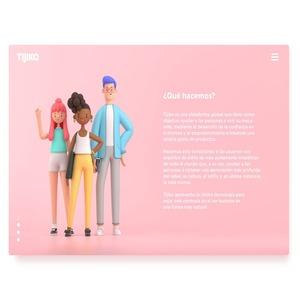 3D landing page - web design