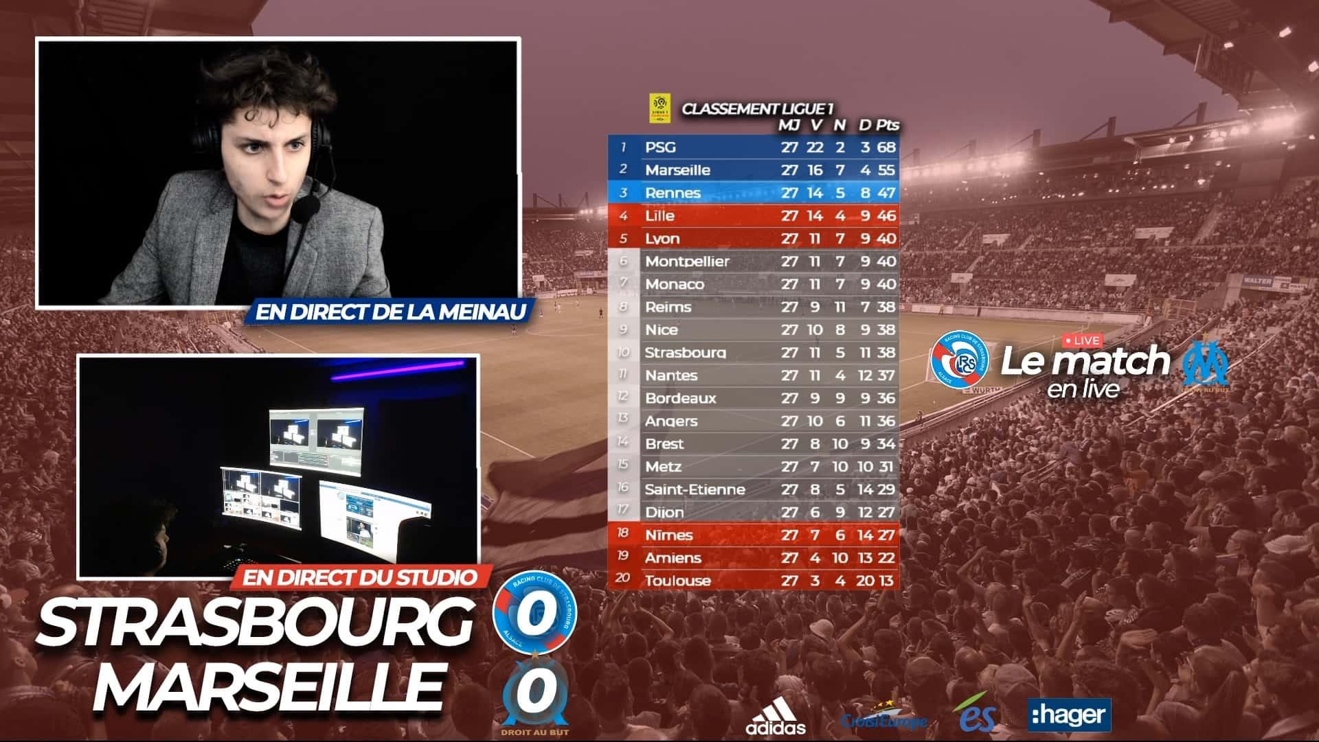 match live régional